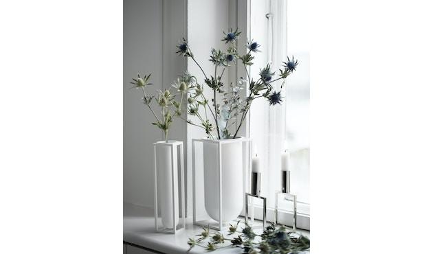 by Lassen - Kubus Vase Flora - weiß - 12