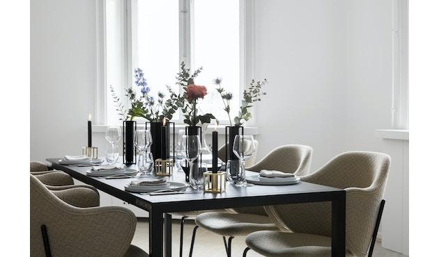 by Lassen - Kubus Vase Flora - schwarz - 12