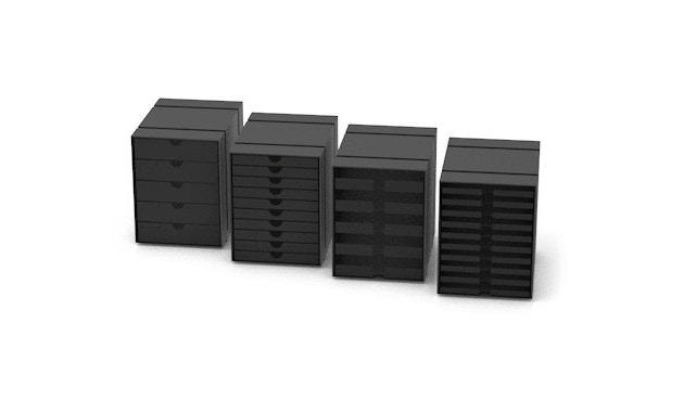 USM Haller - Inos kastset C4 - 10 bakjes - grafietzwart - open - 1