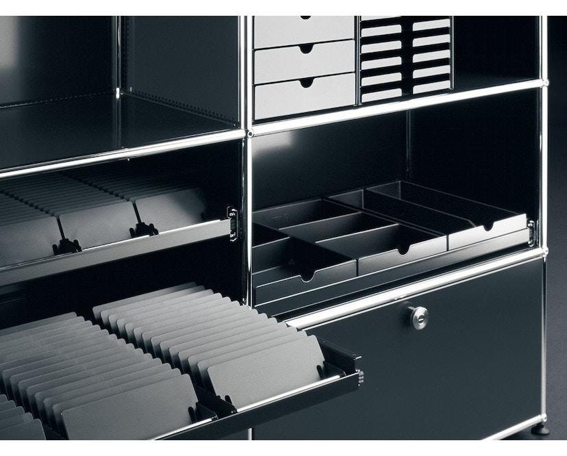 USM Haller - Inos Kasten Set C4 - 5 Schalen - schwarz - geschlossen - 2