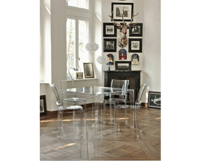 Kartell - Invisible Table - eettafel - glashelder - 4