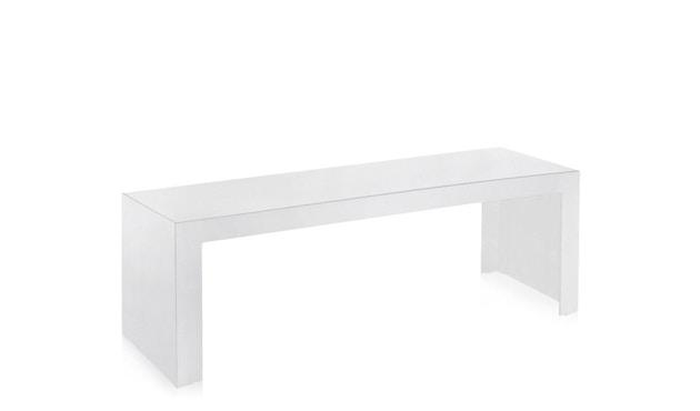 Kartell - Invisible Side - Beistelltisch - hoch - deckend hochglanz-weiß - 1