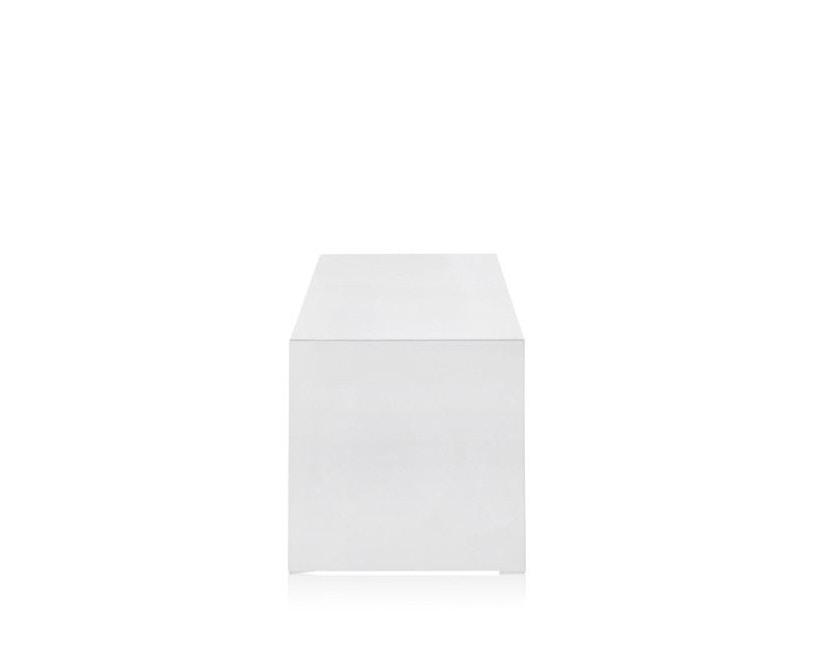 Kartell - Invisible Side - Beistelltisch - hoch - deckend hochglanz-weiß - 3