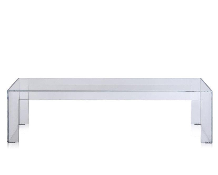 Kartell - Invisible Side - bijzettafel  - Hoogte 31,5 cm - glashelder - 2