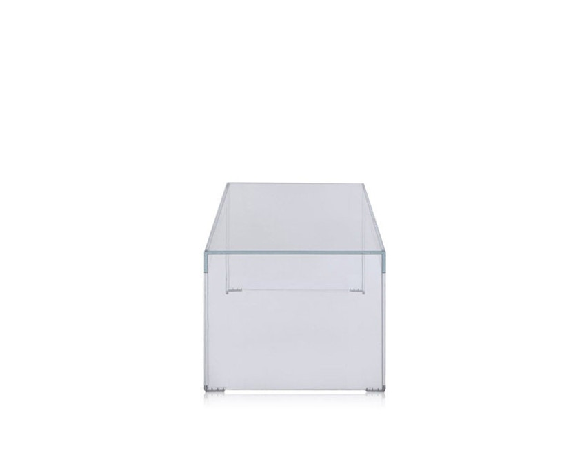 Kartell - Invisible Side - bijzettafel  - Hoogte 31,5 cm - glashelder - 3