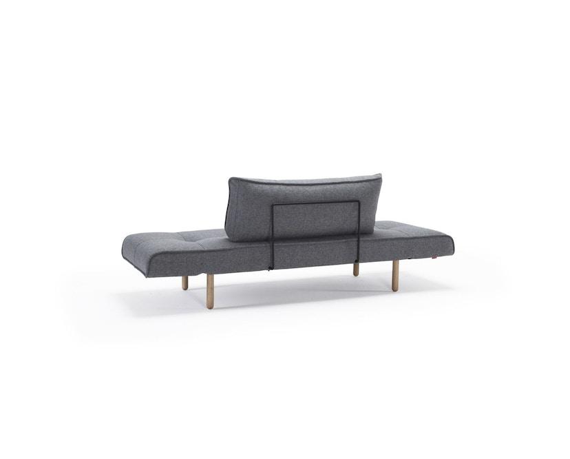 Innovation - Zeal Schlafsofa - Dess. 565 graublau - Gestell Ulme dunkel gebeizt - 6
