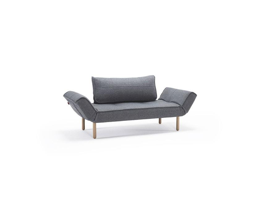 Innovation - Zeal Schlafsofa - Dess. 565 graublau - Gestell Ulme dunkel gebeizt - 3