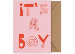 It's a boy! - Folded A5 card