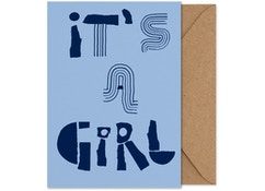 It's a girl! - Folded A5 card