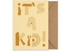 It's a kid! - Folded A5 card