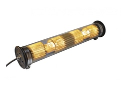 DCW éditions - IN THE TUBE 120-700 Wandleuchte - silber - gewebe gold - stopper schwarz - 1