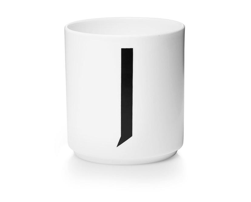 DESIGN LETTERS - Personal Porzellanbecher - weiß - J - 1
