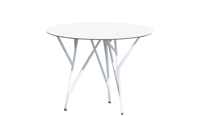 Jan Kurtz - Astwerk Tisch - rund- weiß - 1