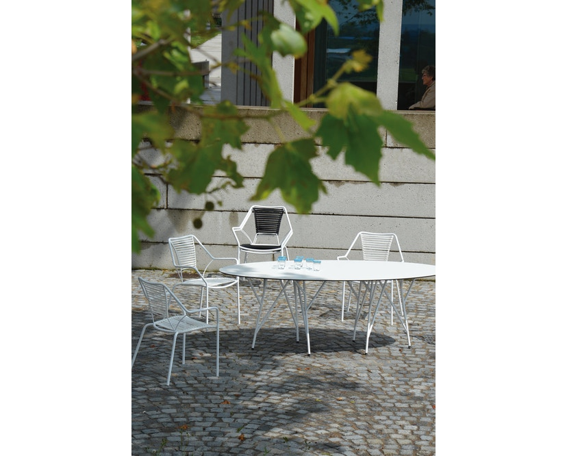 Jan Kurtz - Knit Knot stapelstoel - zwart - 3
