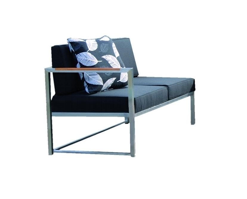 Jan Kurtz - Lux Lounge 2-zitsbank - Roestvrij staal - zwart - Armleuning links - 3