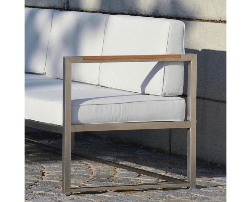 Jan Kurtz - Lux Lounge hoekcombi - Variant 2 - grijs/wit - Roestvrij staal - 3