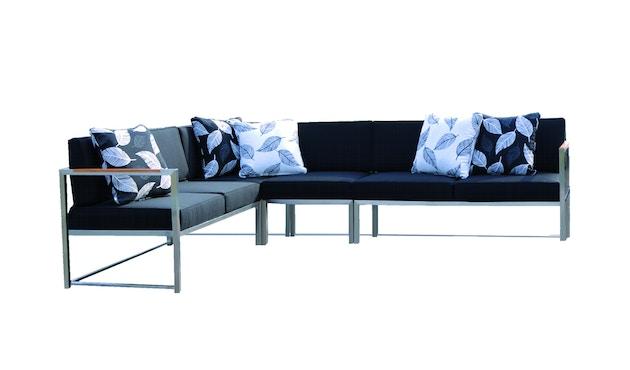 Jan Kurtz - Lux Lounge hoekcombi - Variant 2 - grijs/wit - Roestvrij staal - 1