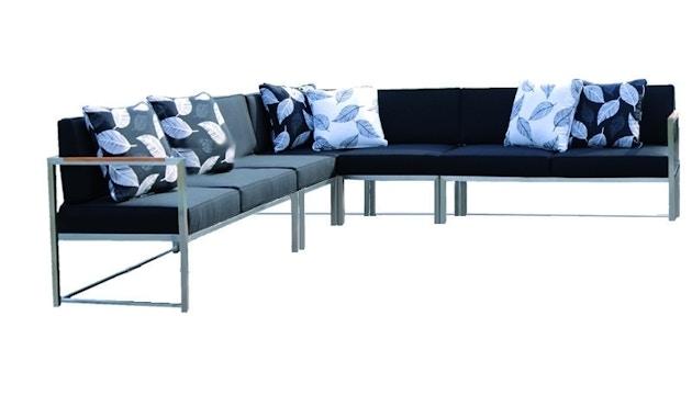 Jan Kurtz - Lux Lounge Eckkombi - Variante 3 - schwarz - Gestell Edelstahl - 1
