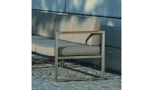 Jan Kurtz - Canapé d'angle Lux Lounge - Variante 3 - taupe - acier inoxydable - 3