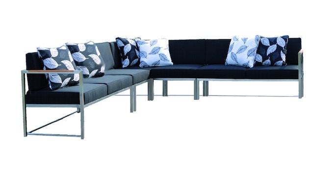 Jan Kurtz - Canapé d'angle Lux Lounge - Variante 3 - taupe - acier inoxydable - 1