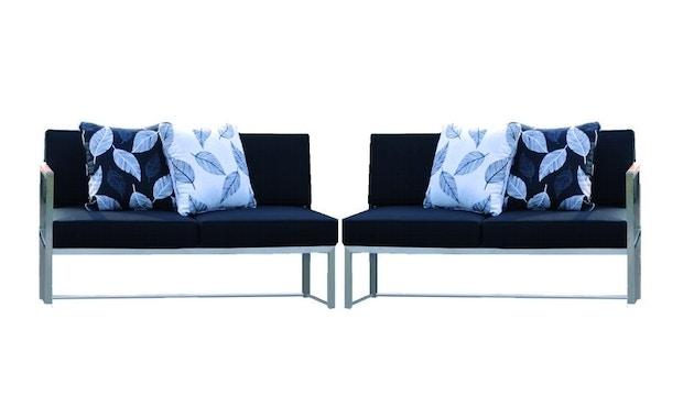 Jan Kurtz - Lux Lounge Sitzkombi - Variante 4 - schwarz - Gestell Edelstahl - 1