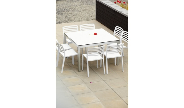 Jan Kurtz - Quadrat Tisch - HPL Zementoptik - Gestell schwarz - 80x50 - 6