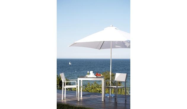 Jan Kurtz - Quadrat Tisch - 90x90 - Gestell weiß - HPL weiß - 8