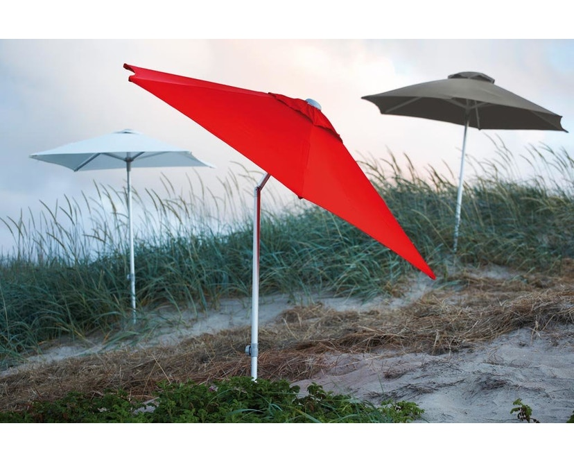 Jan Kurtz - Parasol Elba - rectangulaire - 200 x 200 cm - taupe - 1