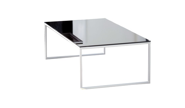 Jan Kurtz - Tisch Classico - rot/silber - 60x36x60 cm - 1