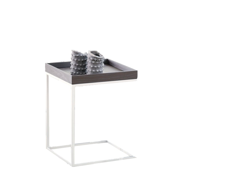 Jan Kurtz - Table d'appoint Pizzo  - 40 x 52 x 40 cm - frêne blanc - blanc - 0