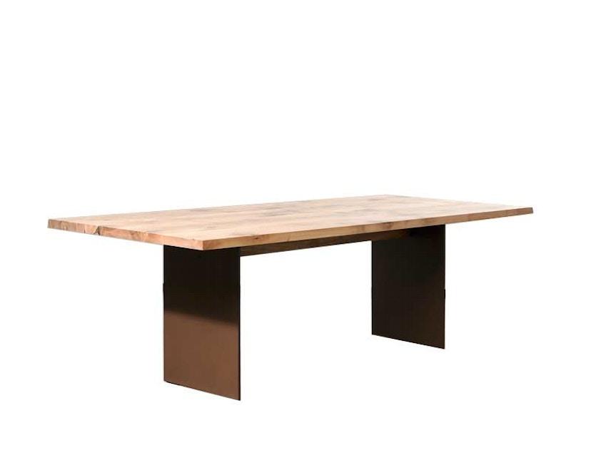 Janua - SC 41 Tisch - Eiche natur geölt - Wangen Rohstahl natur lackiert 180x90 - 1