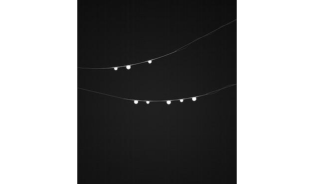Vibia - June Outdoor-Lichtgirlande - dreiflammig - grau - 9