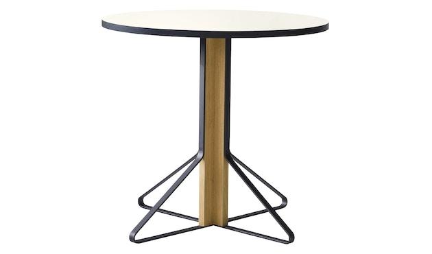 Artek - Kaari runder Tisch klein - HPL hochglanz weiß - Gestell Naturholz mit Schutzlack - 1