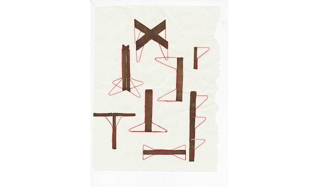 Artek - Kaari Wandregal drei Regalböden mit Schreibtisch - 3