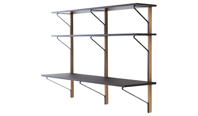 Artek - Kaari Wandregal drei Regalböden mit Schreibtisch - 1