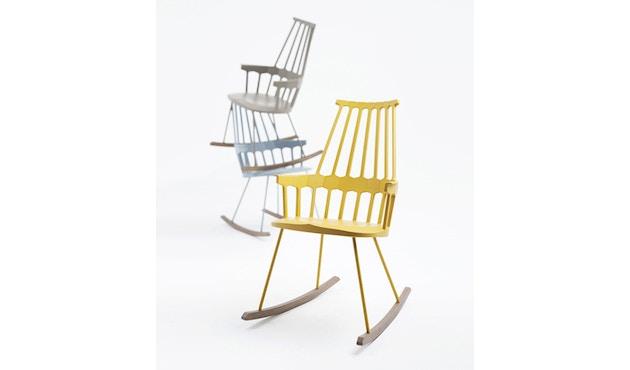 Kartell - Comback schommelstoel - wit/ eik - 3