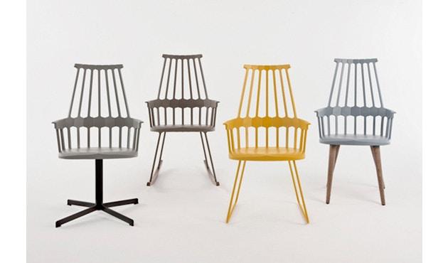 Kartell - Comback stoel - geel/ eik - 5