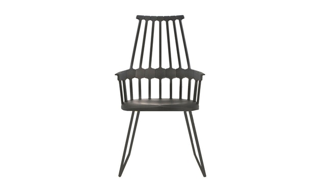 Kartell - Comback Stuhl mit Kufen - schwarz - 1