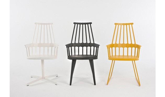 Kartell - Comback Stuhl mit Kufen - schwarz - 3