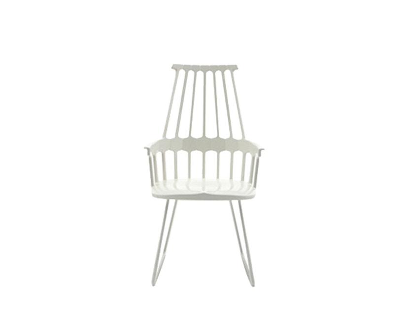 Kartell - Comback Stuhl mit Kufen - weiß - 1