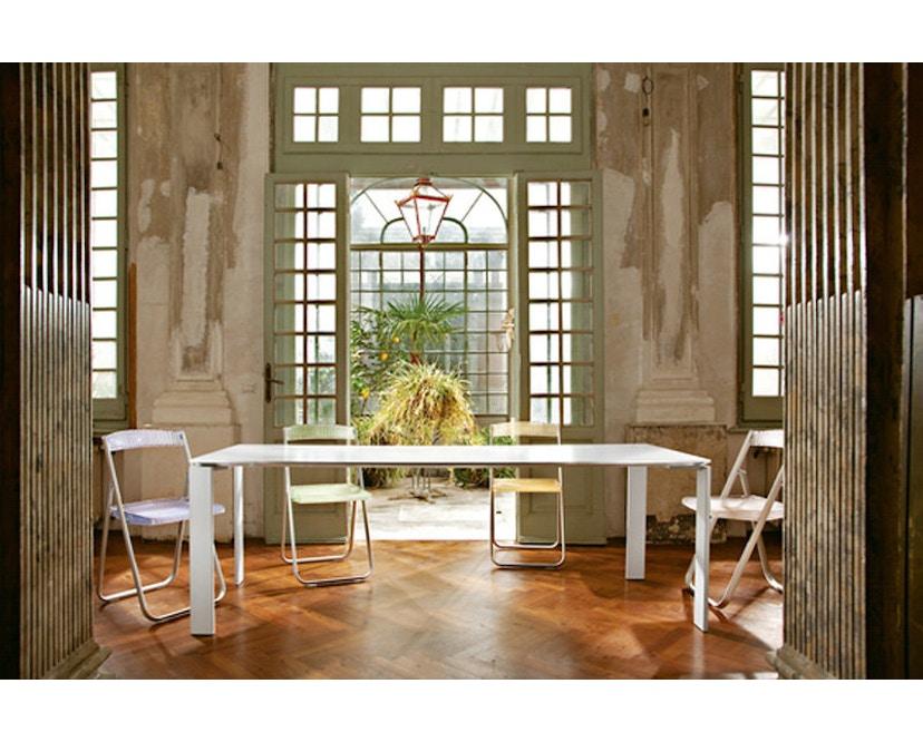 Kartell - Four Tisch M - weiß-Aluminium - 8