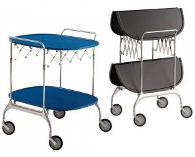 Kartell - Gastone trolley - blauw - 7