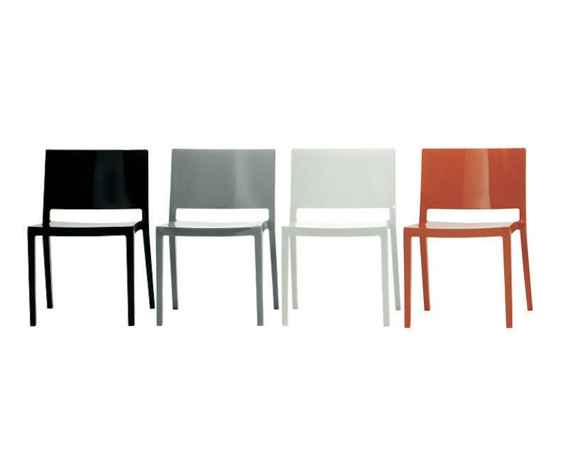 Kartell - Lizz stoel - hoogglans gelakt - oranjerood - 7
