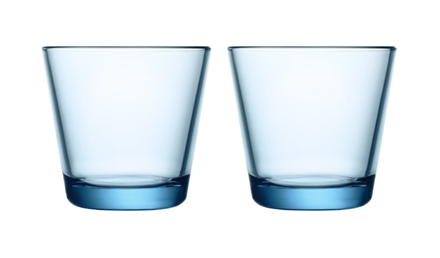 Iittala - Kartio 2er Set Glas, 0,2l - hellblau - 1