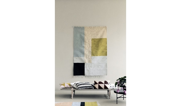 ferm LIVING - Kelim Teppich - M - squares - 2