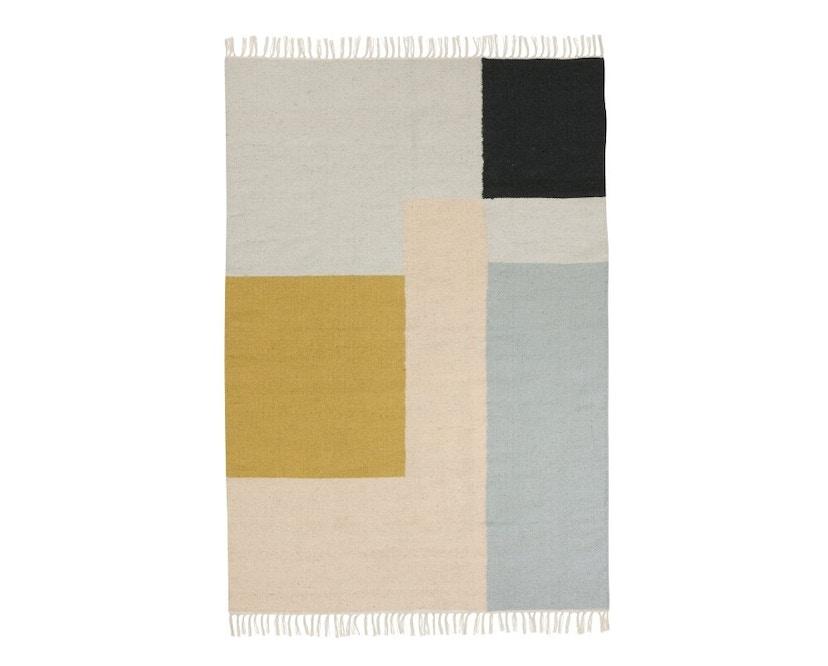 ferm LIVING - Kelim Teppich - M - squares - 1