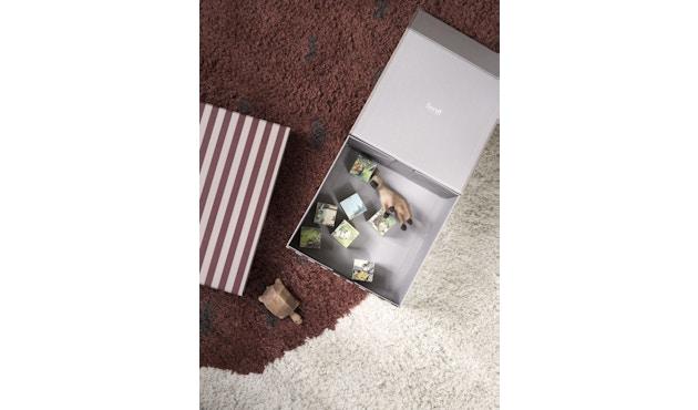 ferm LIVING - Gestreifte Box - carré - vert/blanc - 3