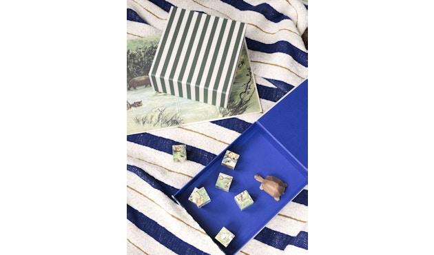 ferm LIVING - Gestreifte Box - carré - vert/blanc - 4