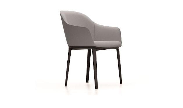 Vitra - Softshell Chair Vierbein-Untergestell - Mello - Gestell basic Dark - Filzgleiter  - kieselgrau - 1