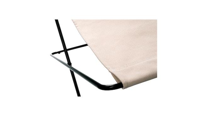 Manufakturplus - Fußteil für Hardoy Butterfly Chair - Stahlrahmen schwarz, Baumwolle oliv - 2